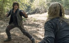 Daryl and Beta fighting over territory in an episode from Season 10 of The Walking Dead.