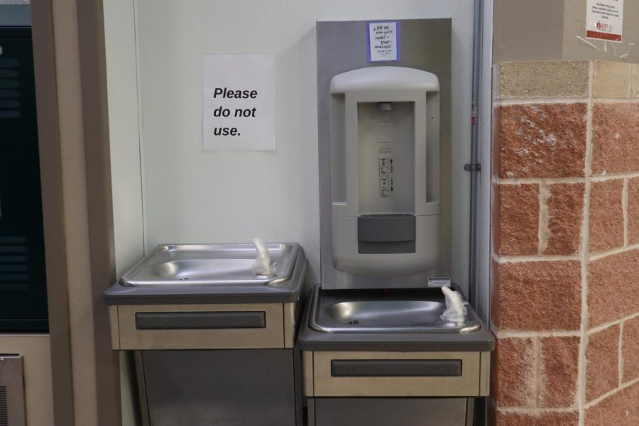 Water fountains at Akins remain closed because of county mandates for COVID-19 safety.
