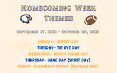 Spirit Week Themes Announced
