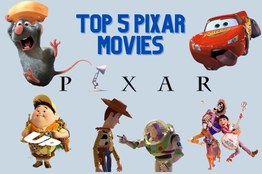 Top 5 Pixar Movies