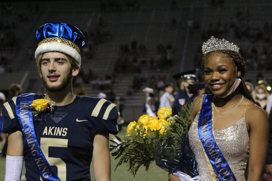 Homecoming King and Queen on the night of September 30, 2021.