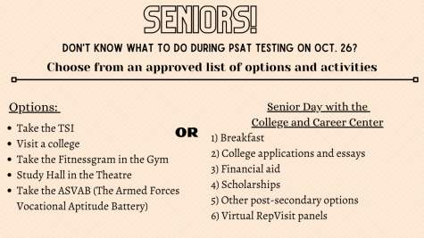 Senior have options for approved activities during PSAT